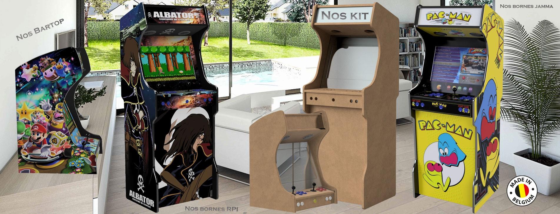 Nos bornes arcade